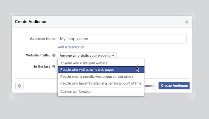 Crea audiencias en los anuncios de Facebook