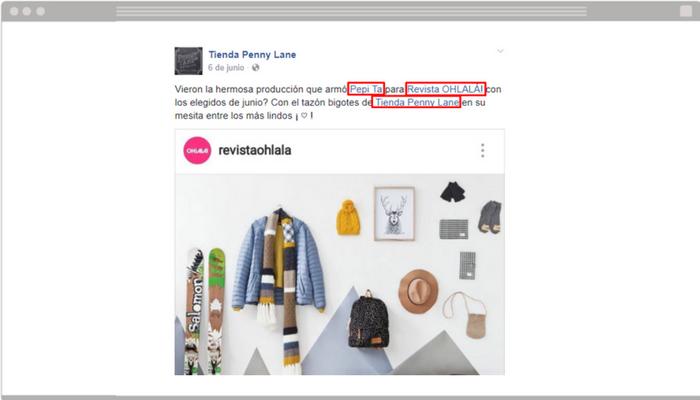 Ejemplo etiquetar personas o marcas