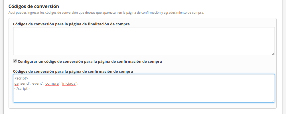Evento para Google Analytics