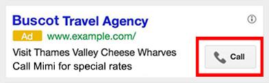 Extensiones de Llamada de Google AdWords