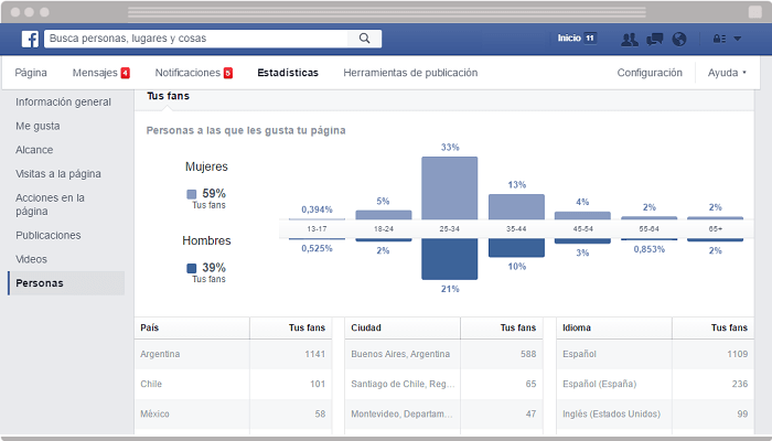 Facebook Insights Personas
