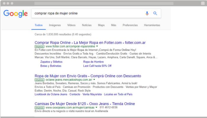 Ejemplo resultado de búsqueda