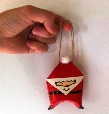 Accesorio de papá noel para el arbolito hecho a mano