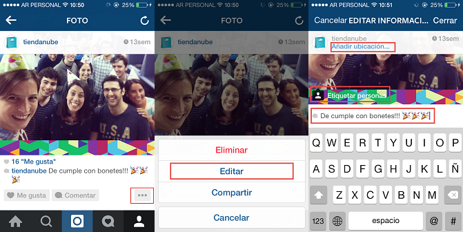 Cómo editar fotos en instagram