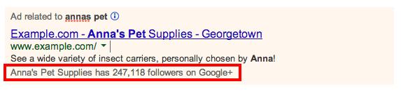 Notas sociales de Google AdWords