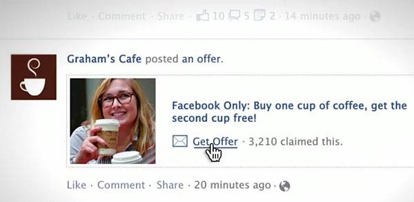 Ejemplo de Ofertas en Facebook