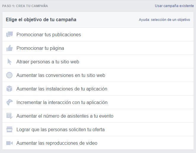 Cómo definir el objetivo, el público y el presupuesto de tus anuncios de Facebook