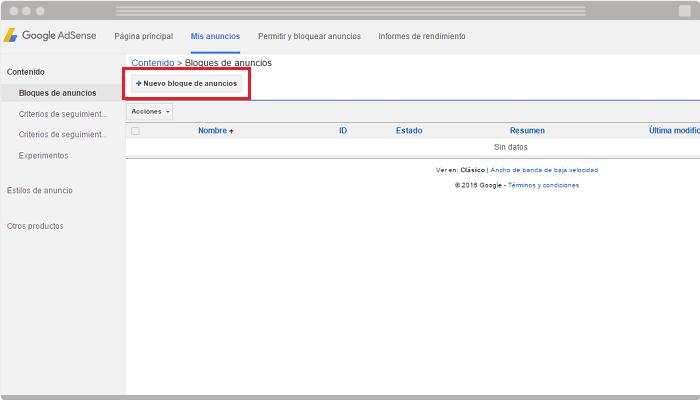 Usar Google AdSense