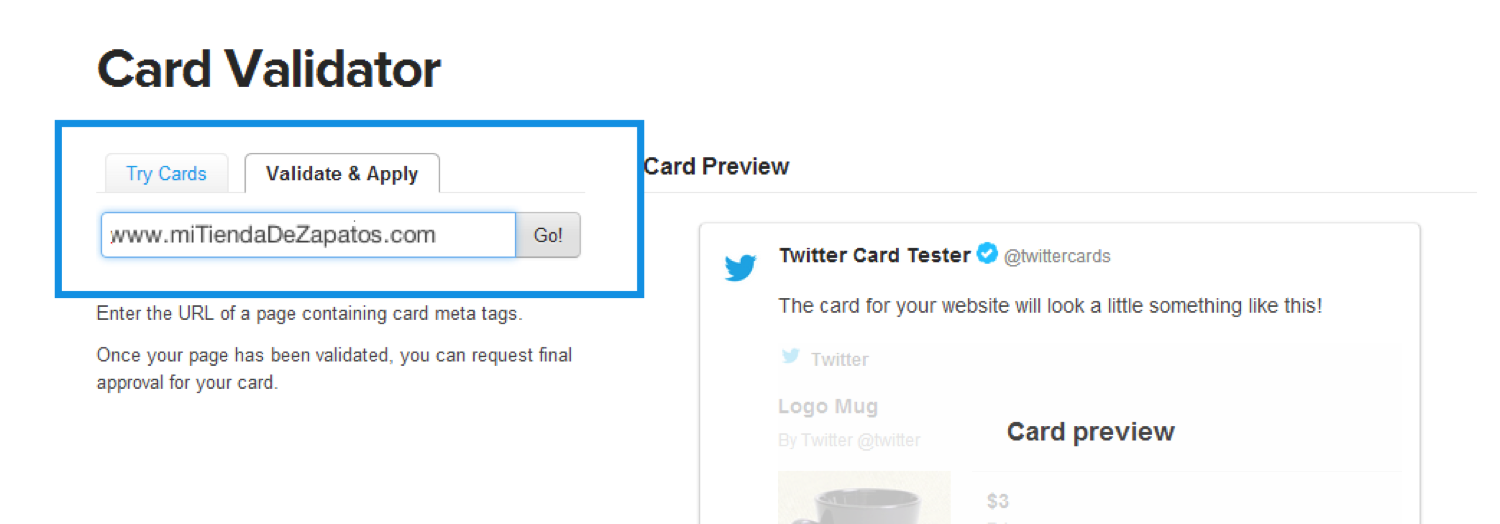 Como Validar Twitter Product Cards