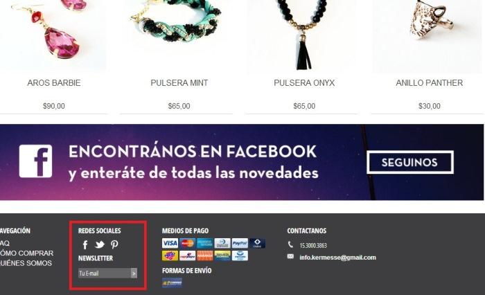 Ejemplo de tienda con Pinterest integrado