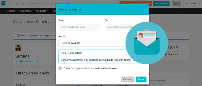 Emails a clientes desde el Administrador Nube