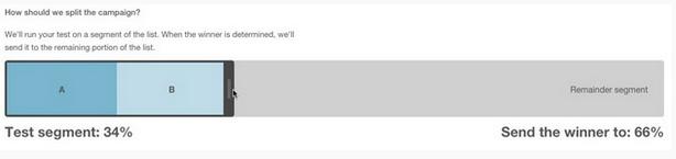 Cómo crear una prueba a/b en una campaña de mailchimp