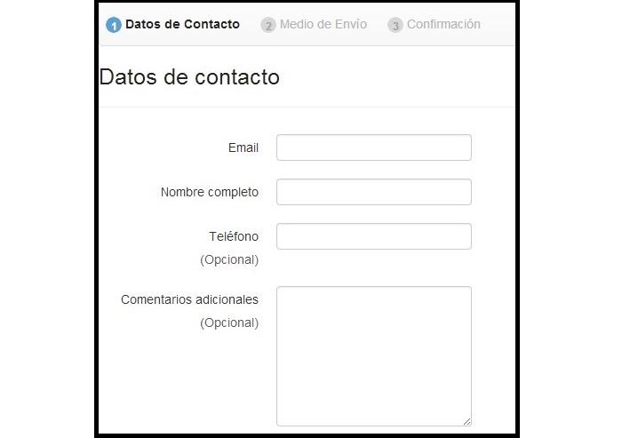 Formulario de datos de contacto