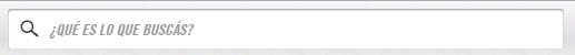 Texto predeterminado en la barra de búsqueda