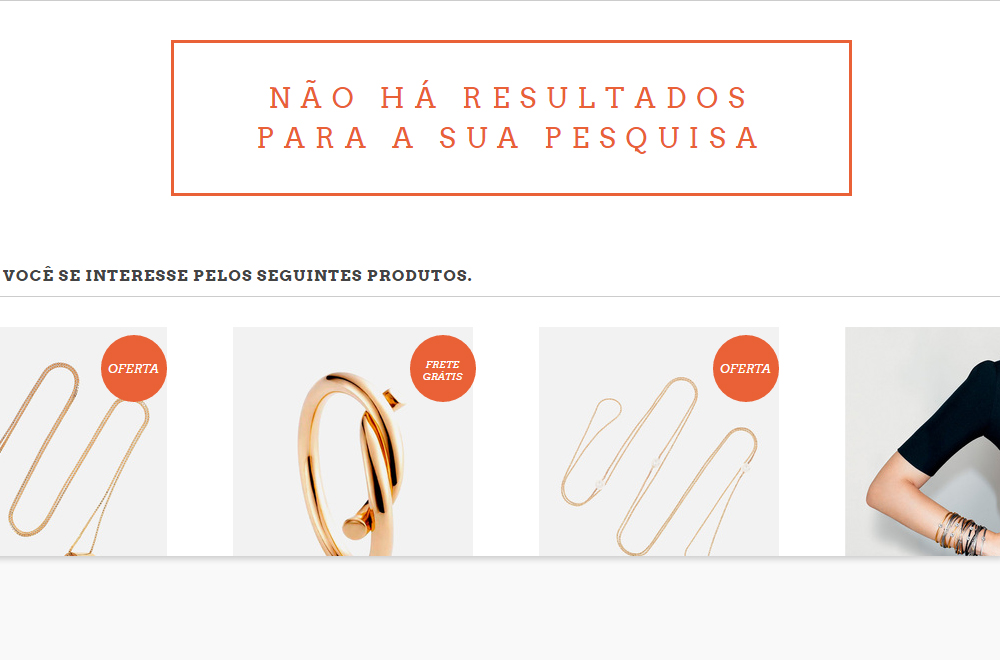Exemplo página 404 no Luxury - Layout Nuvem Shop