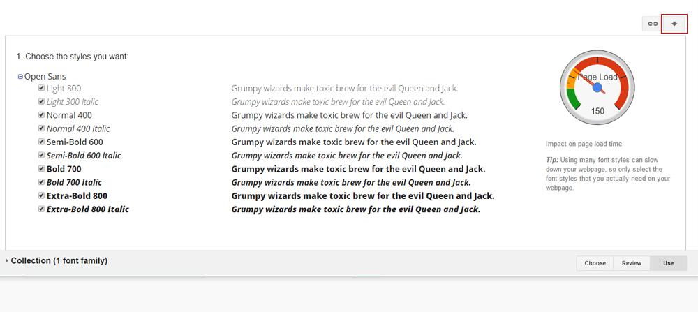Baixar OpenSans no Google fonts