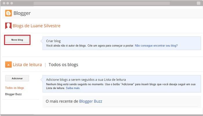Criando um blog com o Blogger