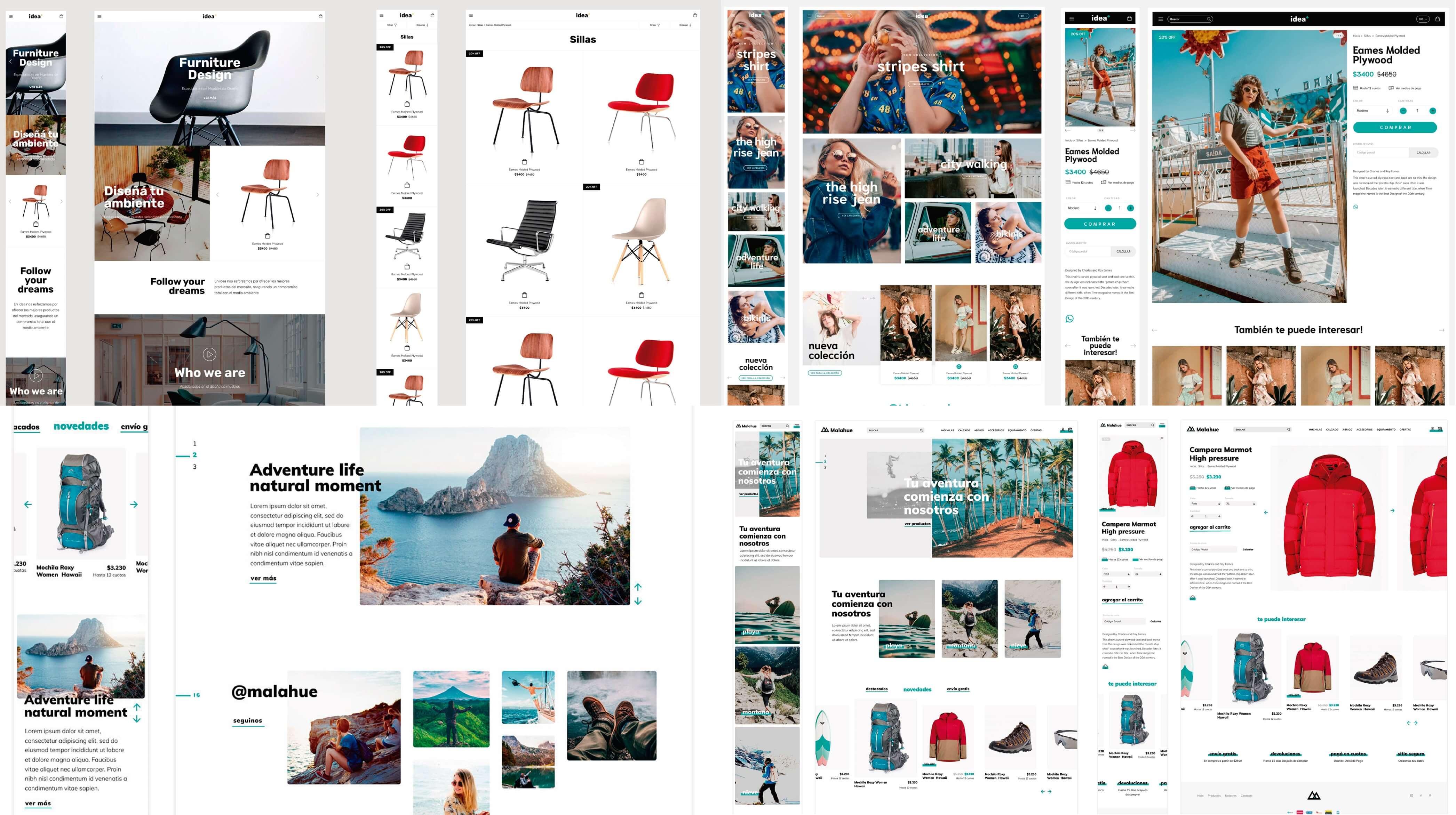 novos layouts Idea e Bahia