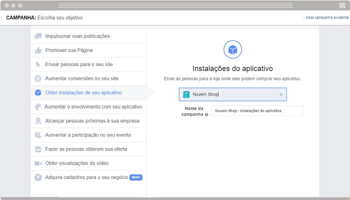 6 Obter instalações do seu aplicativo Facebook