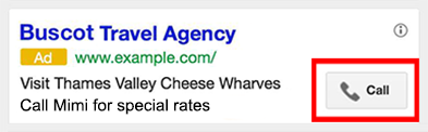 Google ad extensions de chamada