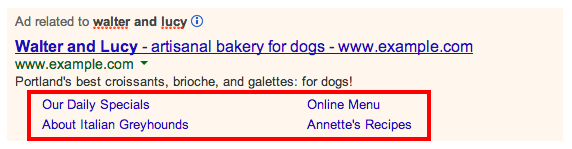 Google ad extensions sitelinks