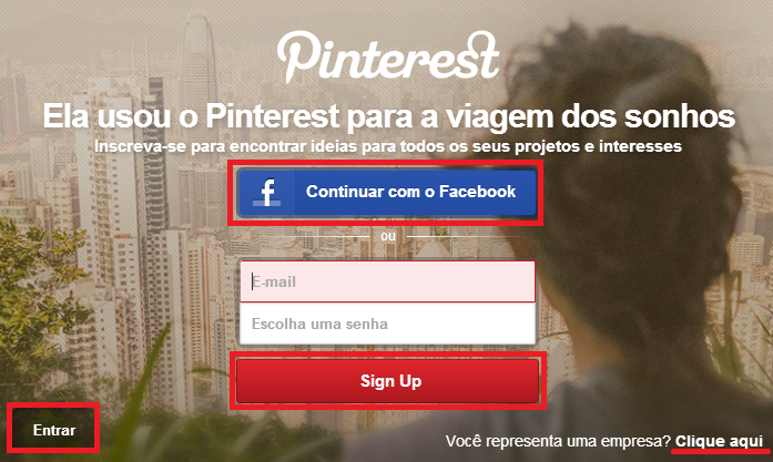 Call-to-action Pinterest
