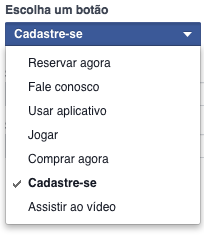 tipos de CTA no Facebook