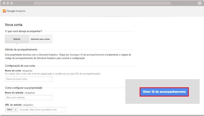 Como criar conta com o Google Analytics