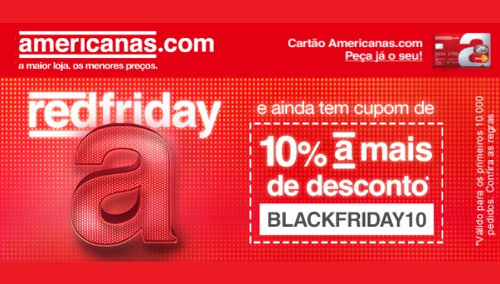 Exemplo de email marketing Americanas Black Friday