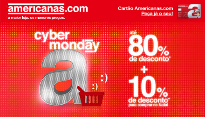 Exemplo de email marketing Americanas Cyber Monday