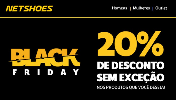 Exemplo de email marketing Netshoes Black Friday