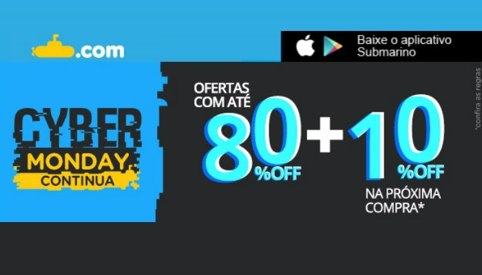 Exemplo de email marketing Submarino Cyber Monday