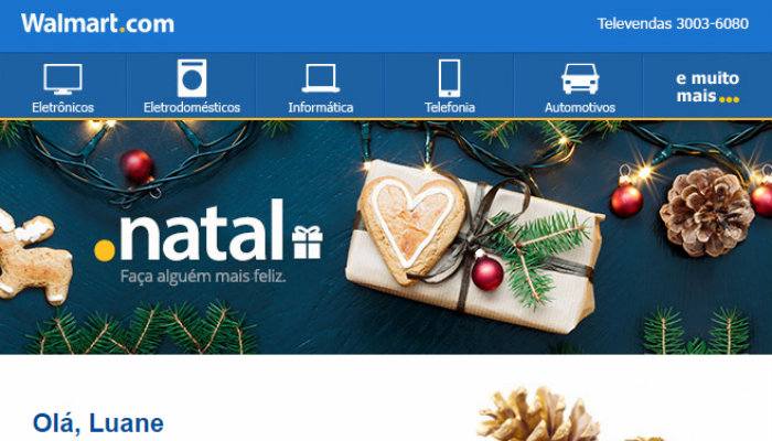 Exemplo de email marketing Walmart Natal