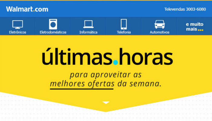 Exemplo de email marketing Walmart