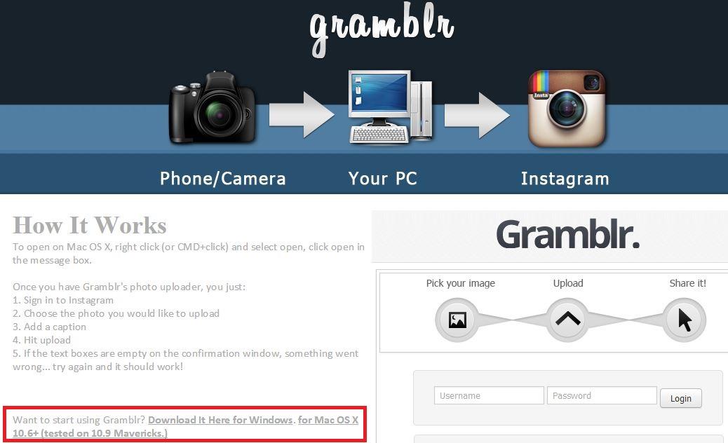 Como usar o Gramblr
