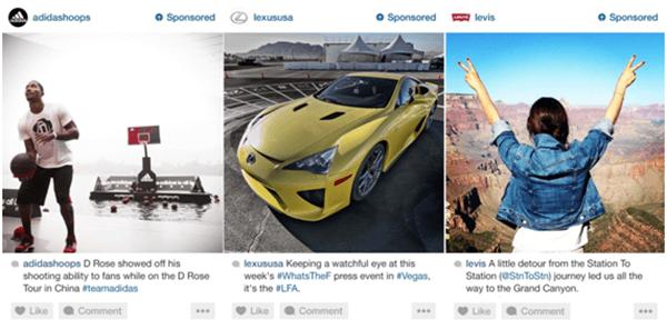 Os anúncios no Instagram aparecerão com a tag