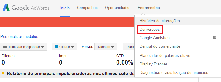 Como medir campanhas do Google AdWords