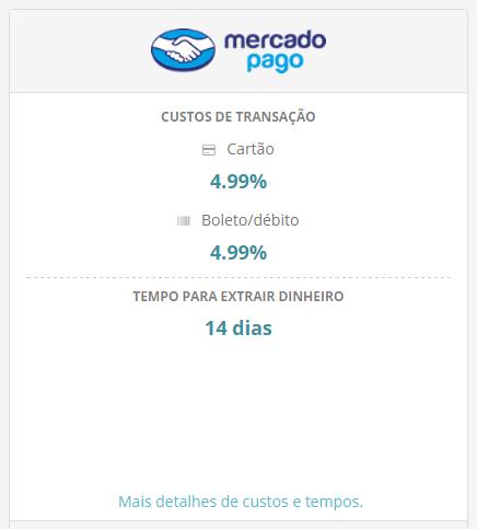 Taxas compras MercadoPago