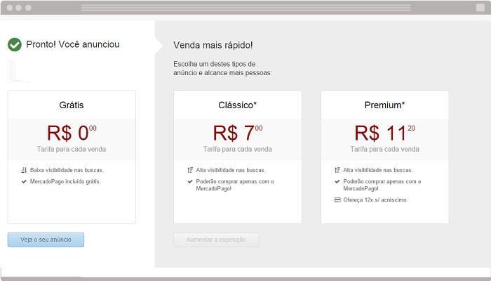 Novos anúncios do MercadoLivre.