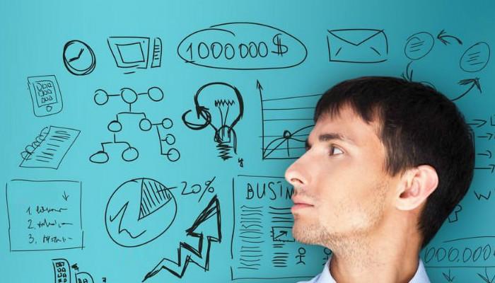 Homem pensando em questões relativas ao empreendedorismo.