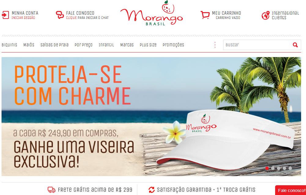 Frete grátis na Morango Brasil