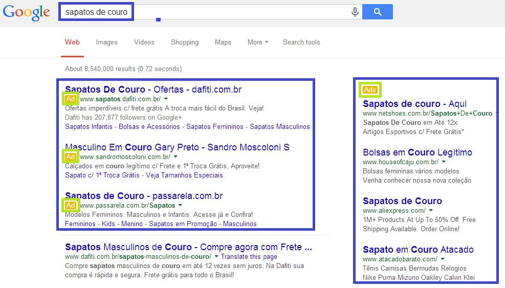 Como funciona o ranking de anúncios do Google