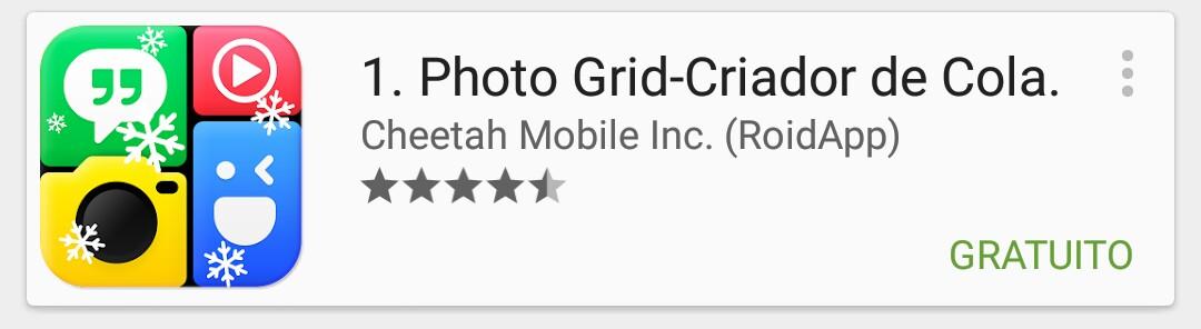 Photo Grid colagem Instagram
