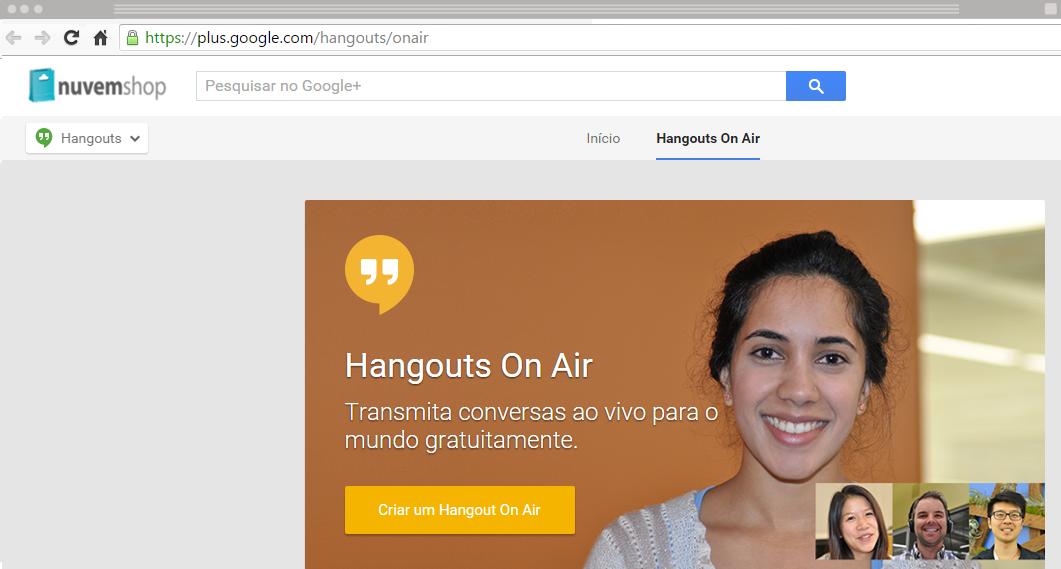 Como criar um hangout on air