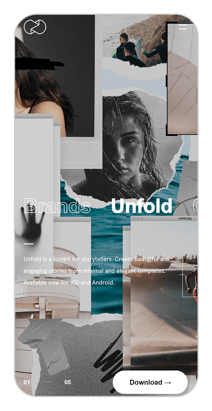 unfold instagram