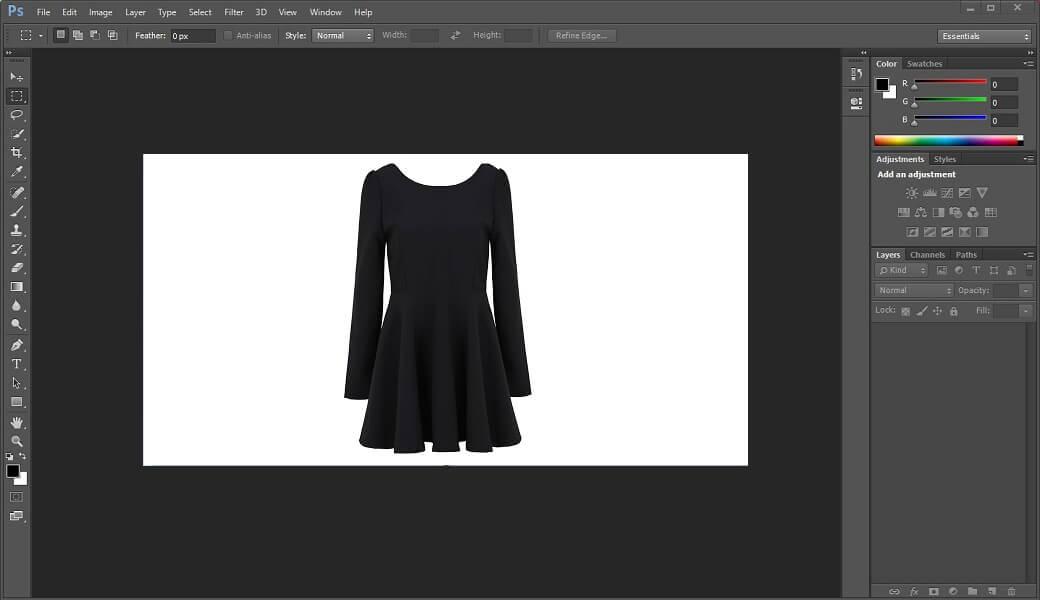 Uso de Photoshop para manipular imagem.