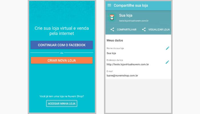 Atualização aplicativos m-commerce Nuvem Shop