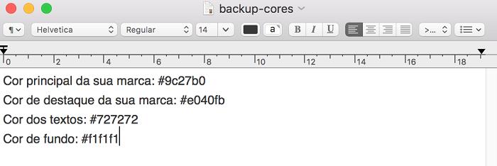Exemplo de backup