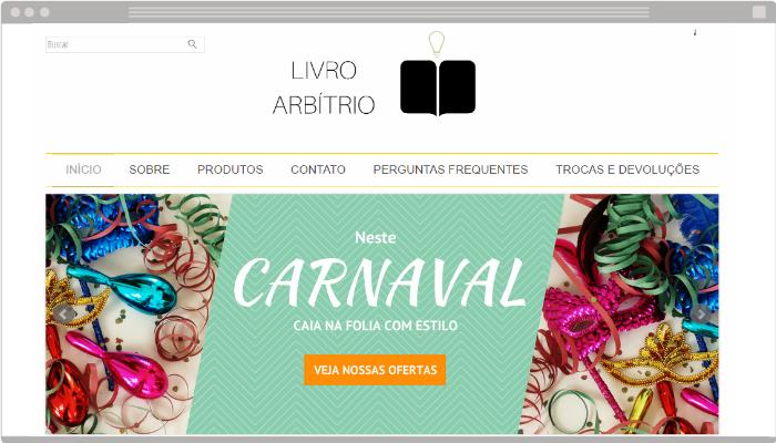 Banners de Carnaval grátis para loja virtual
