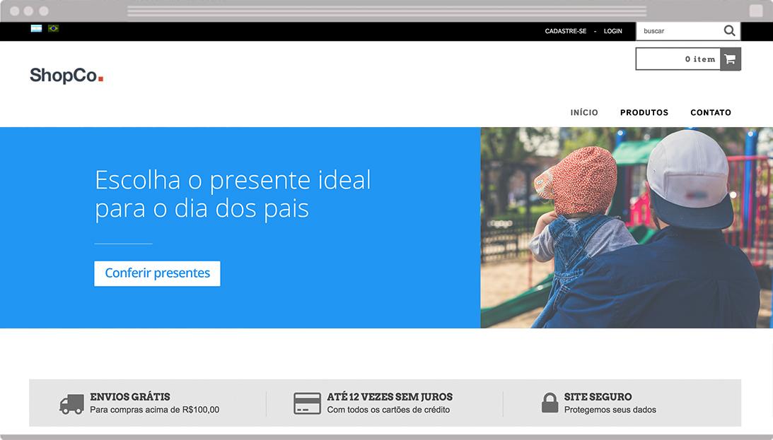 Banners gratuitos para loja virtual Dia dos Pais